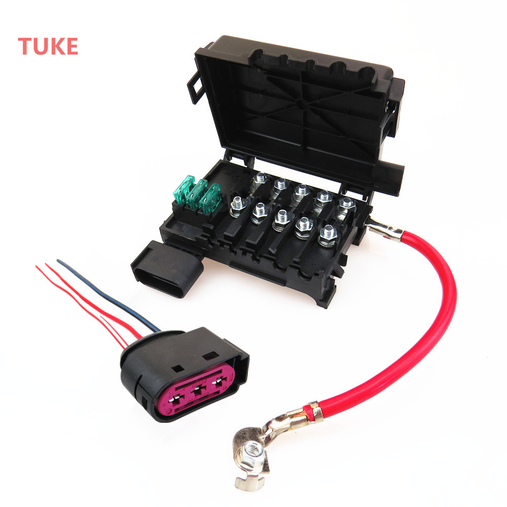 tuke 1 set battery circuit fuse box assembly plug cable for a3 s3 vw beetle [ 1000 x 1000 Pixel ]