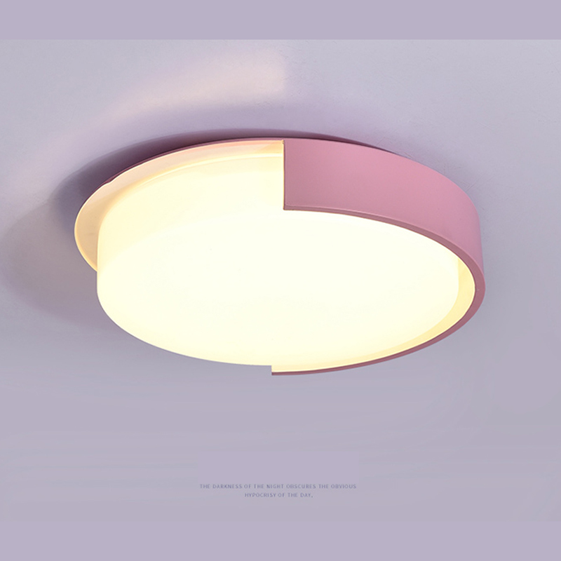 Northern Concise Modern Led Color Round office lamps home lighting Children House Bedroom Living Room ceiling light wl3211538