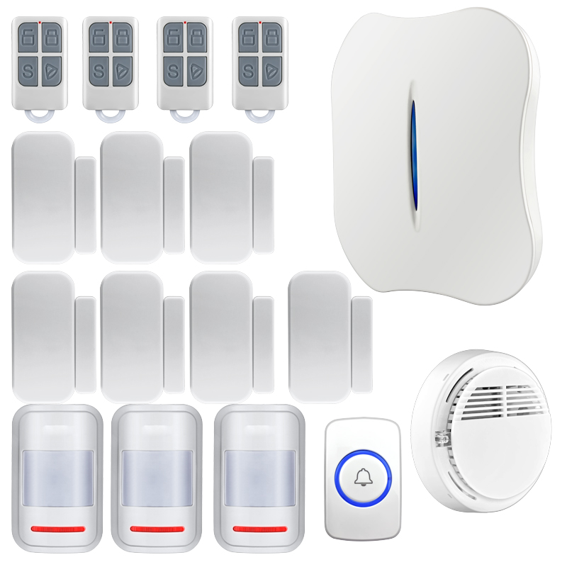 Android APP/Iphone IOS APP remote control Wireless Home WiFi PSTN Burglar Alarm System Intelligent Alarm Voice Prompt Alarm kits wireless gsm pstn home alarm system android ios app control glass vibration sensor co detector 8218g