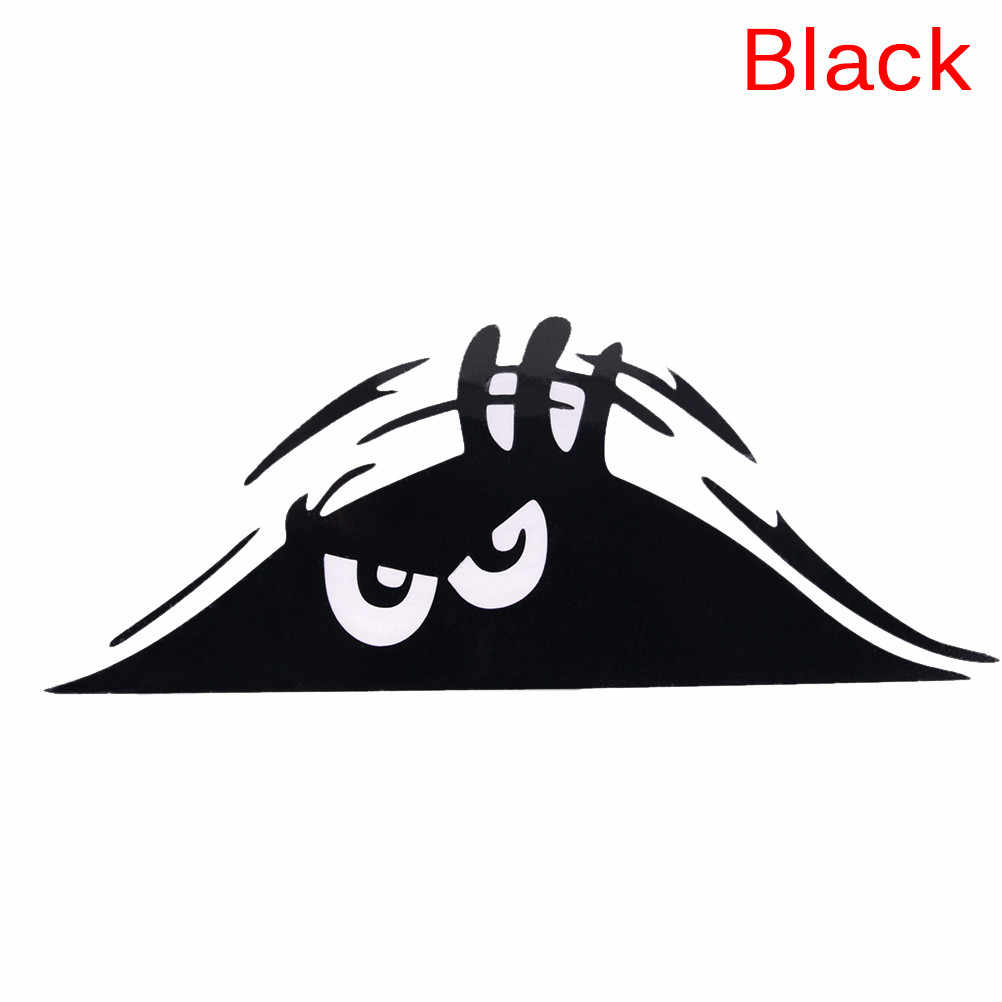 Zwart/Wit Gluren Monster Auto Muren Windows Sticker Grafische Vinyl Auto Decal