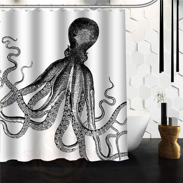 Custom Octopus Steampunk Ocean Shower Curtain 60 X 72 66 48