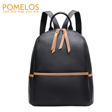 POMELOS Backpack Women Fashion New Arrivals Genuine Leather Small For Rucksack Street StyleTravel