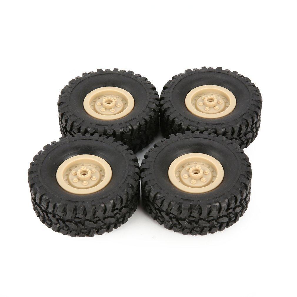 4x DIY Assembled Tire for 1//16 WPL B-1//B-24//C-14//C-24 RC Climbing Car Truck