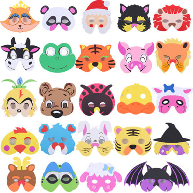 Cartoon Animal EVA Mask Kids Children Boy Girl Stage Perofrmance Party Animals Masks Hat Birthday Dress Decor  Halloween baby toys