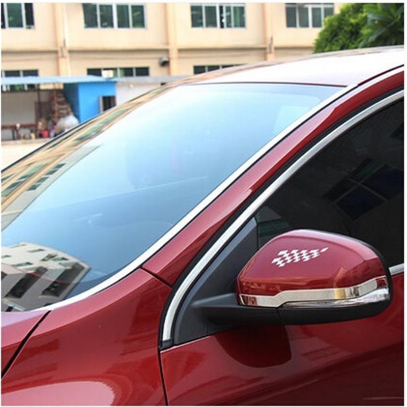 2PCS Dedicated For volvo Windows Highlight Bar Window Trim S60 V60 Windshield Highlight Bar 2012 2013 2014 2015 2016 highlight fan meeting bangkok