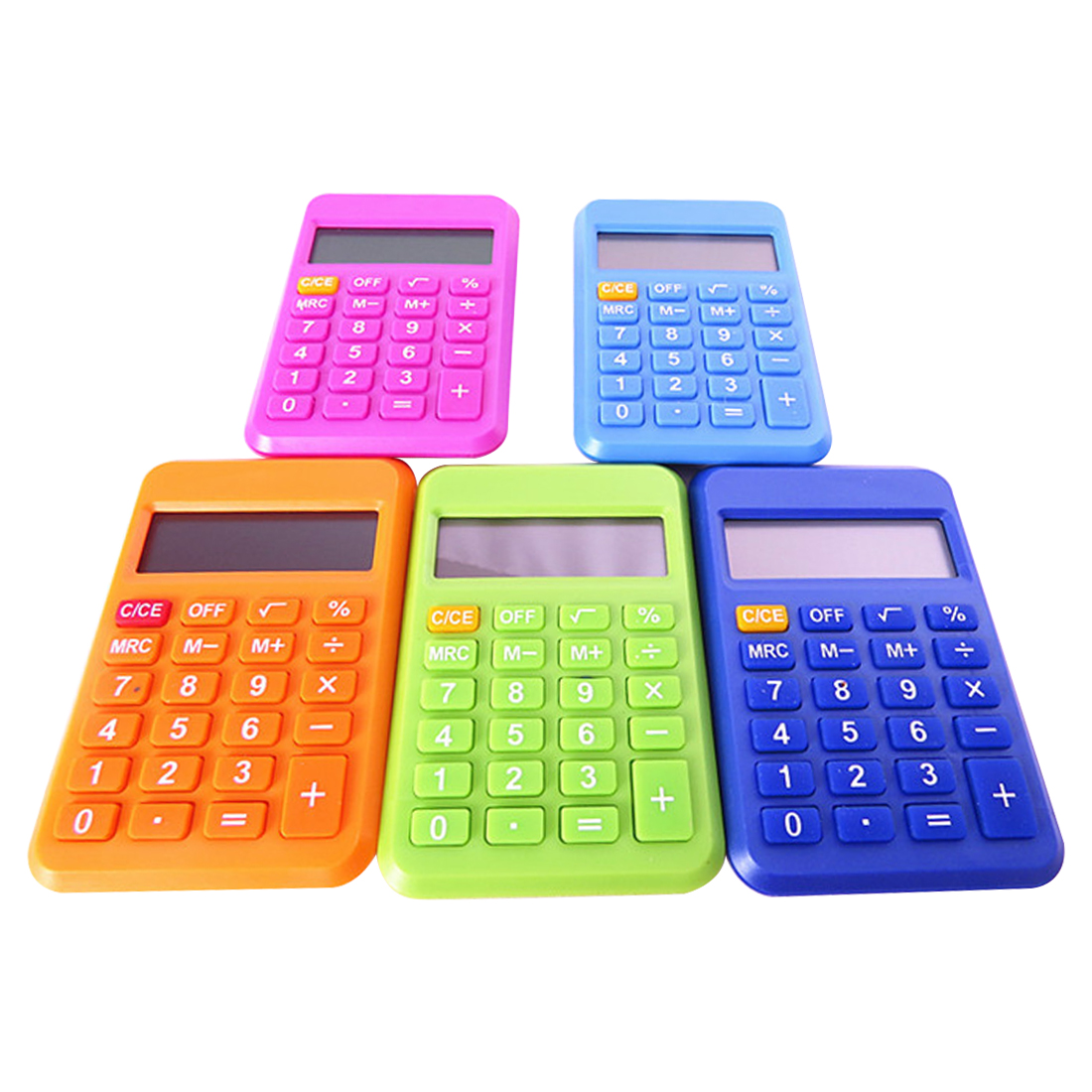 все цены на NOYOKERE Colorful Student Mini Electronic Calculator Candy Color Calculating Office Supplies Gift 9*6mm Size Random Color онлайн