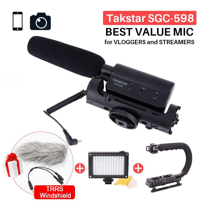 Takstar SGC-598 Photographie Interview Shotgun MIC Microphone pour Nikon Canon DSLR Caméra DV Caméscope pour Vloggers/Vidéaste