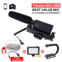 Takstar SGC 598 Photography Interview Shotgun MIC Microphone For Nikon Canon DSLR Camera DV Camcorder For