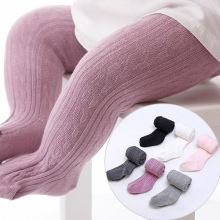 Emmababy Hot Sale Autumn Winter Baby Girl Clothes Solid Soft Comfortable Stocks arrival Wild knitting Long Socks