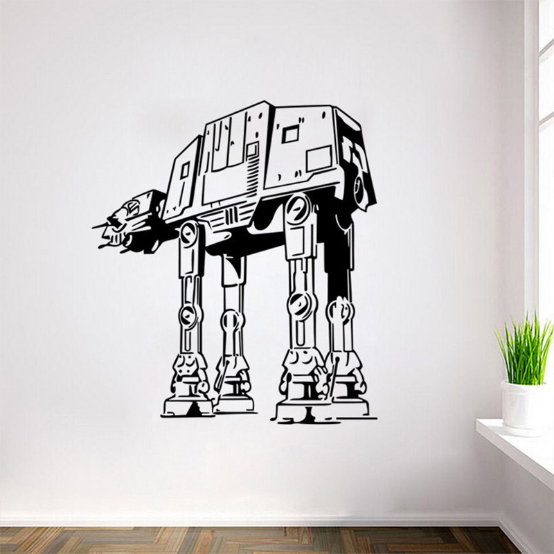 Buy 2017 hot star wars wall art sticker for Autocollant mural star wars