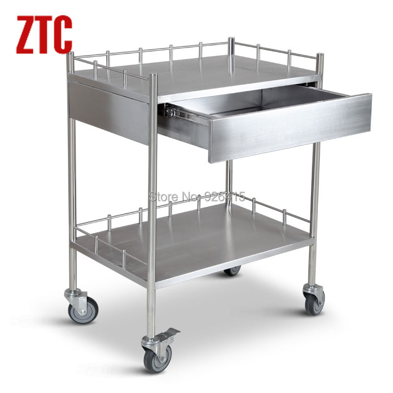 2015 Hot Sale Laboratory Cart With Drawermobile Lab Stainless Steel Trolley On Wheels