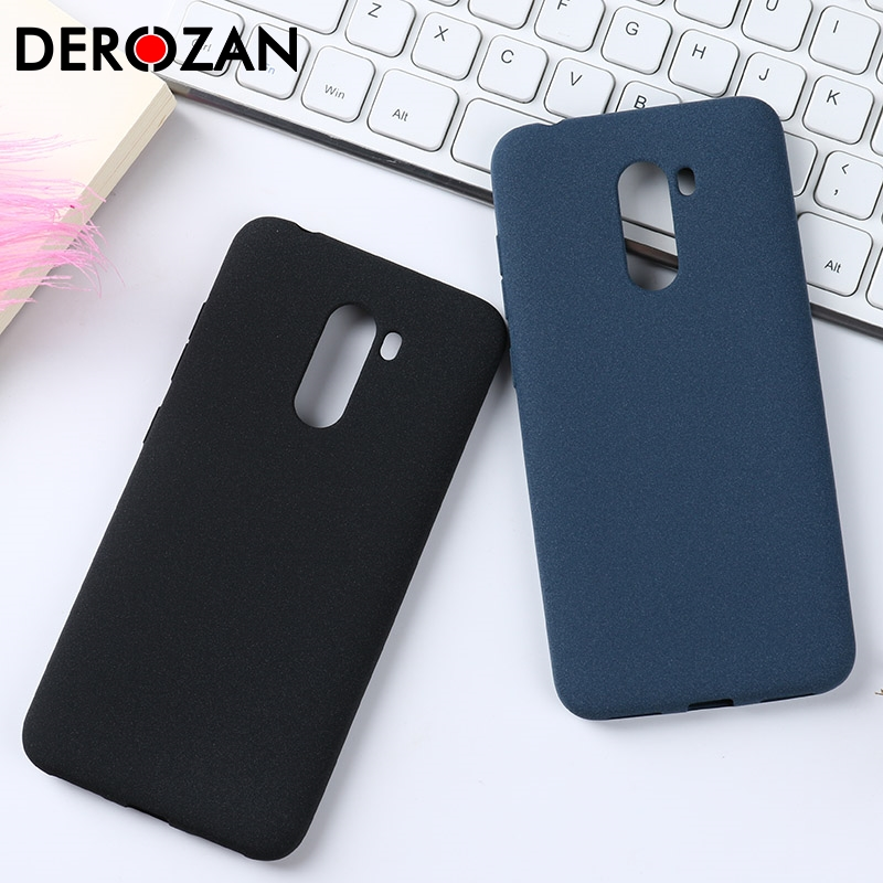 For Xiaomi Pocophone F1 Case Soft TPU Silicone Plain Matte Anit-knock