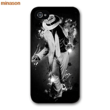 minason Michael Jackson Dancing MJ Cover case for iphone 4 4s 5 5s 5c 6 6s 7 8 plus samsung galaxy S5 S6 Note 2 3 4    H3140