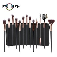 ESOREM 12/13 Pcs Black Gold Makeup Brush Sets Cosmetic Brushes With Bag Slim Handle Tapered Highlight Pinceaux Maquillage 070807