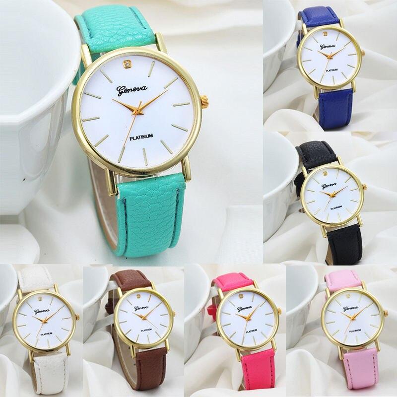 7 Colors New Fashion Women's Women Watches Women Fashion Design Dial Leather Band Analog Quartz Wrist Watch Ladies Watch Clock