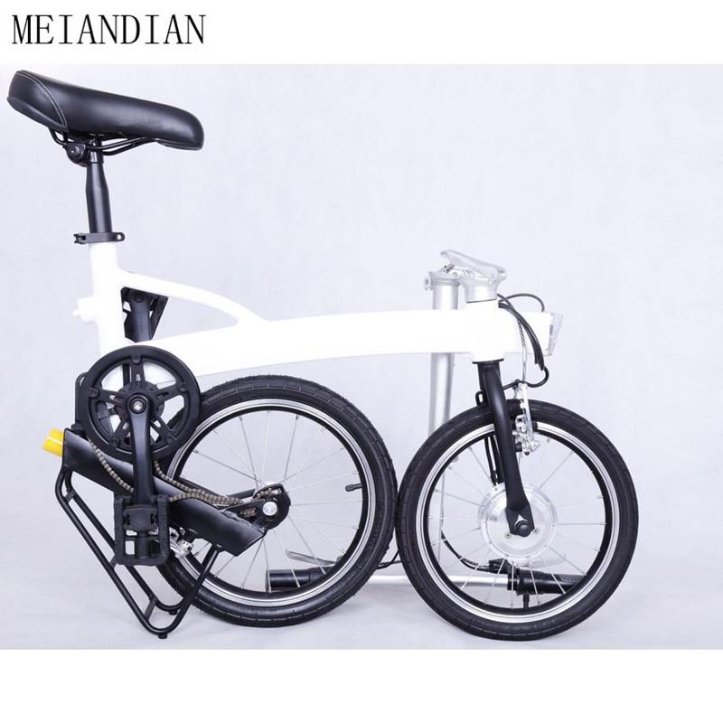 Mini vélo électrique pliant blanc intelligent de Sport d'e-vélo portatif E vélo pliable Style de cadre en alliage d'aluminium Ebike peu comme Brompton