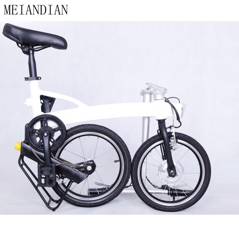 White Smart Mini Folding Electric E-Bike Sport Portable E bike Foldable Ebike Aluminum Alloy Frame Style little like Brompton