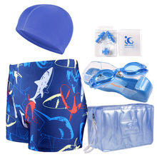 361e4a688bc64 Men Swimwear Mens Trunk Swimming Plus Size Swimsuit Bathing Trunks Surf  Shorts 5 Pieces Sets Caps