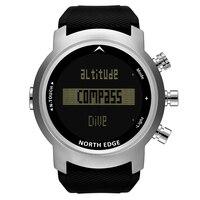 NORTH EDGE Watches Men Waterproof 100M relogio masculino Alarm Touch Screen LED Clock Barometer Men Sports Diving Watch Digital
