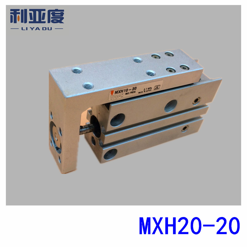 SMC type MXH20-20 pneumatic slider (linear guide) slide cylinder Bore Size 20mm Stroke 20mm bore size 40mm 20mm stroke smc type mgp three shaft cylinder with magnet and slide bearing