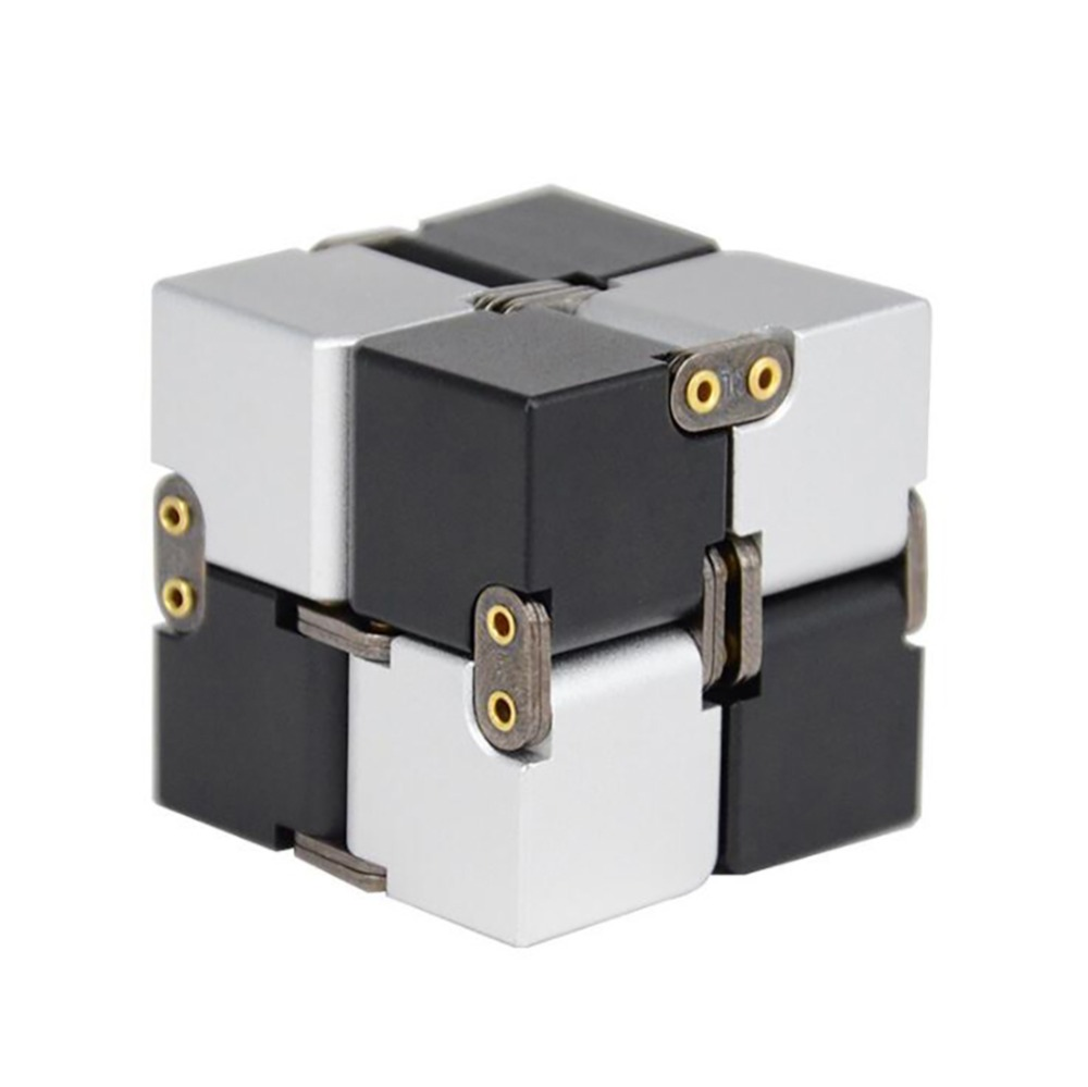 2018 New Aluminium alloy Infinity 17 Col Fidget Cube High Tech Anti Stress Metal Adults Kids Gift EDC for ADHD Funny Finger Toys hot original infinity cube 2 metal high quality edc creative fidget cube toy anti stress relief hand spinner adult adhd oyuncak