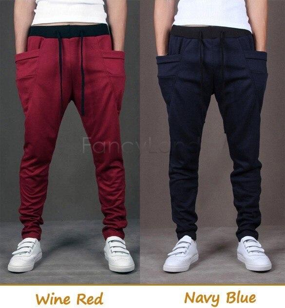 FANALA Men Pants 2017 Lowest Price New Casual Pants Men's Regular Fit Harem Pants Bag Trousers 12