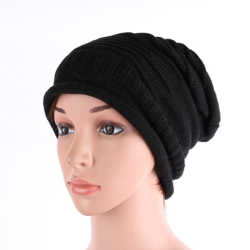 Hiver Hommes Femmes Unisexe Chapeau Chaud Tricot Hip-Hop Beanie Crochet  Baggy Chapeau Béret f29dd0ffffd