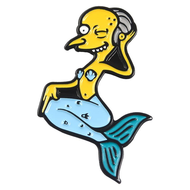 Булавки Симпсоны пончик забавные дизайнерские броши значки Юмор мультфильм рюкзак с эмалевыми вставками булавки для любителей аниме подарки ювелирные изделия оптом - Окраска металла: Style 15