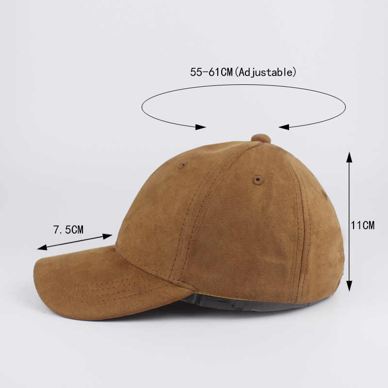545eaca5 ... Pure color Faux Suede Baseball Cap Dad Hats Bone Snapback Can be  adjusted Men's and Women's ...