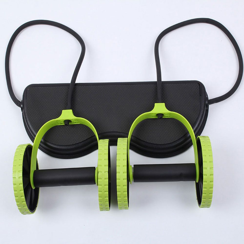 Abdominal Waist Slimming Trainer Exerciser Core Double AB Wheel Fitness Home Workout Tool Gym Equipment Women Men