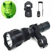 hot deal buy 802 green light tactical led torch ,1 mode 250 yards long distance outdoor lighting hunting flashlight 18650 torch