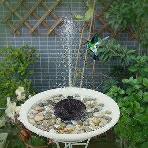 Image 4 - Teich Pumpe Solar Powered Brunnen Garten Dekoration Wasser Schwimm Brunnen Bürstenlosen Wasserpumpe Kit für Vogel Bad Brunnen 2019