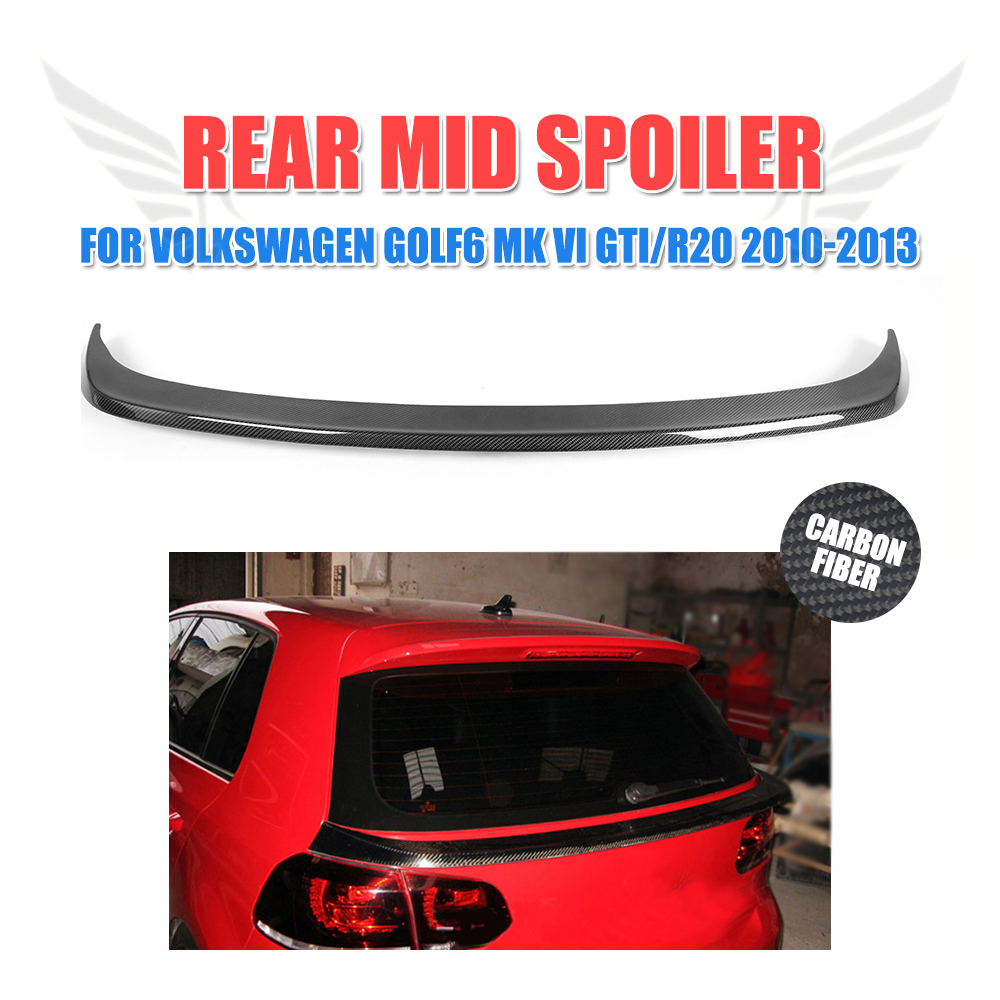 Carbon Fiber/FRP Unpainted Rear Trunk Middle Wing Back Mid