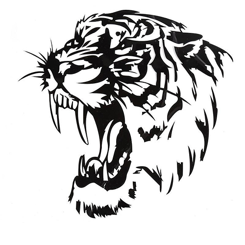 Us 1 12 30 Off Tiger Head Pattern Tribal Graphic Decal Auto Car Window Decorative Stickers In Wall Stickers From Home Garden On Aliexpress Com