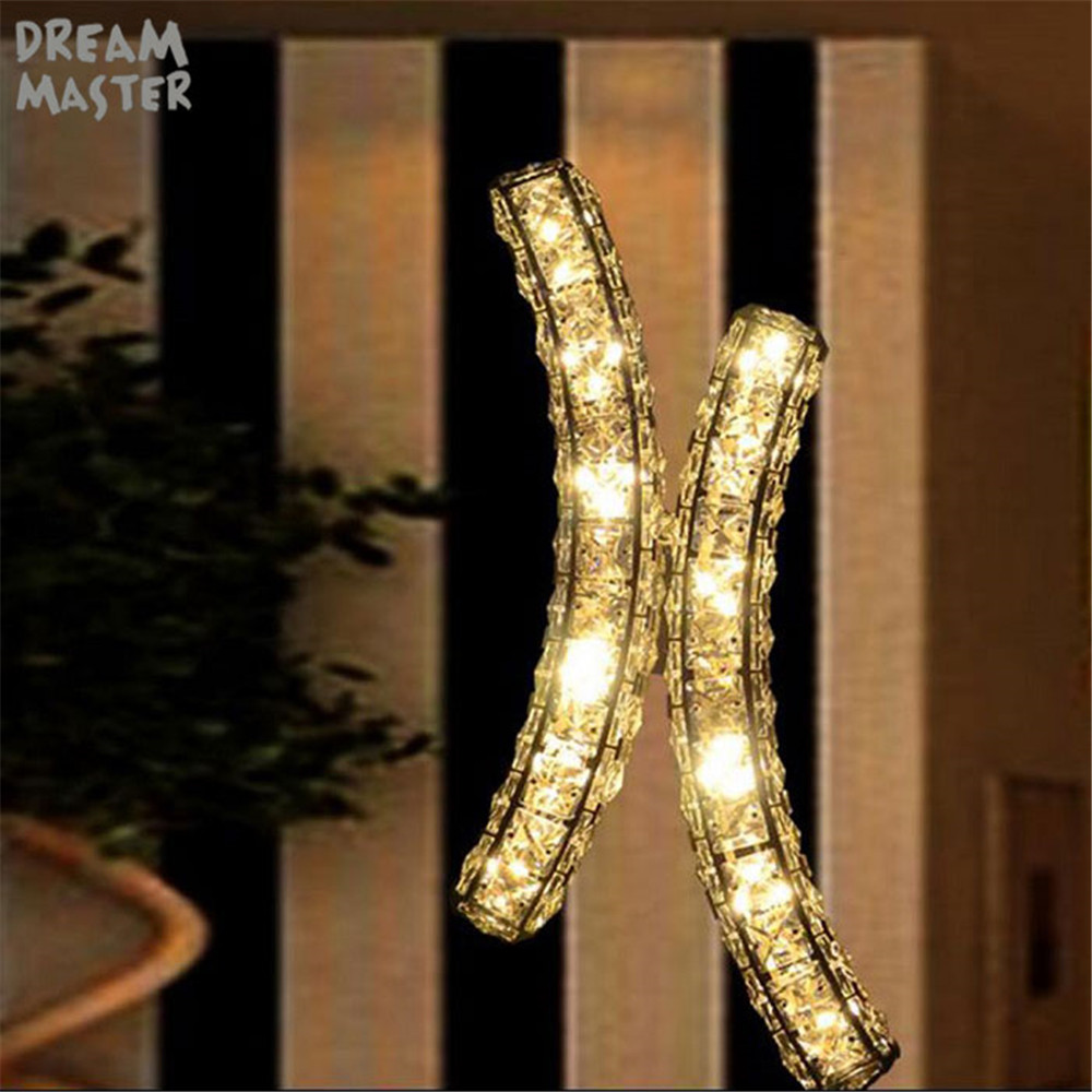 цены Modern K9 LED crystal wall lights fixture lighting lampada led sconce for home decoration lamps X led wall sconces fixture