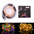 New 10M 33FT 100 led Decoration LED Copper Wire Fairy String Light Lamps for Christmas Holiday Wedding Party  Garland Decoration