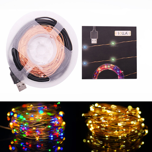 New 10M 33FT 100 led Decoration LED Copper Wire Fairy String Light ...