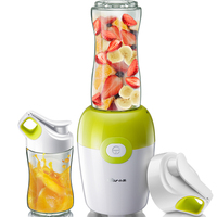 220V Portable Electric Juicer Cup Multifunctional Juicer Smoothie Maker Fruit Vegetable Squeezer With 2 Cups