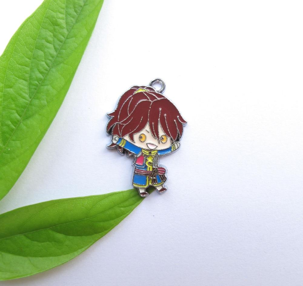 20pcs Japanese anime Metal Charm Pendant DIY Necklace Jewelry Making