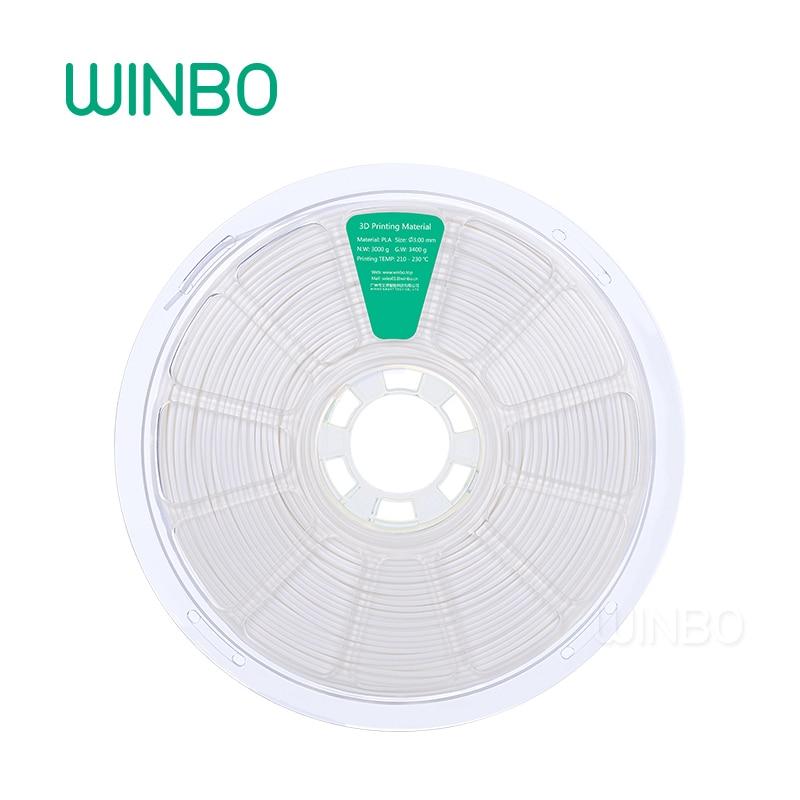 3D Printer PLA filament 3mm 3kg White Winbo 3D plastic filament Eco-friendly Food grade 3D printing material Free Shipping 1 75mm 340m pla 3d printing printer filament