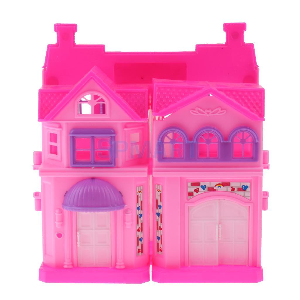 2 Set 2 Storey Doll Mini Villa Dream House for Barbie Doll Kids Pretend  Play Toy 6a8882aecb