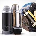 2000 ML Edelstahl Thermos Wasserkocher Isolierung Flasche Vakuum Glaskolben mit Becher Große Kapazität Wasser Topf Reise trinken Wasserkocher-in Isoliergefäße & Thermoskannen aus Heim und Garten bei
