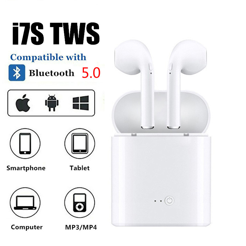 i7s TWS Wireless Bluetooth Earphones Head phones Stereo Music Earbuds For Ear TWS i7 Bluetooth 5.0 for iphone Xiaomi Headset
