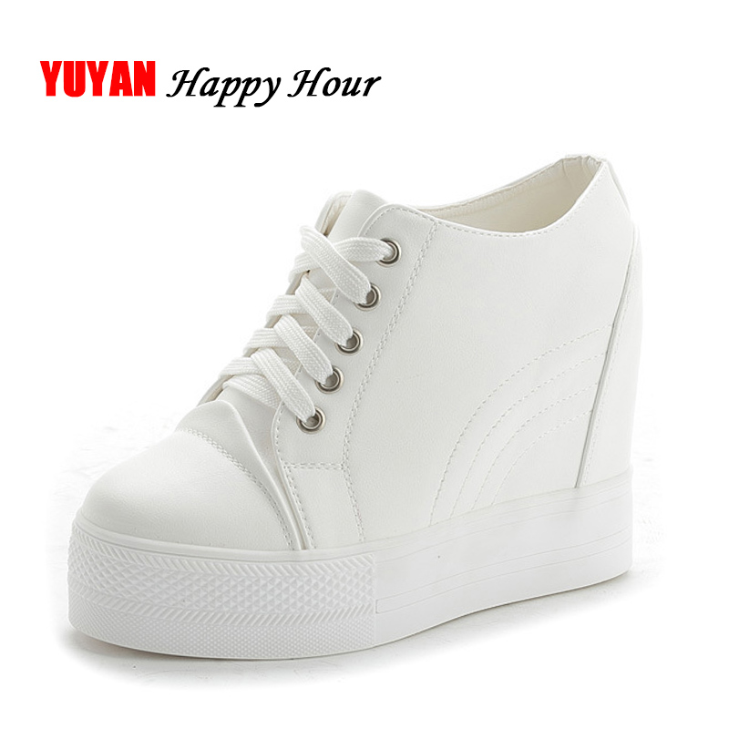 New Arrival Fashion Flat Platform Shoes Women Sneakers Height Increasing Shoes Ladies Brand Sneakers White Shoes ZH2500