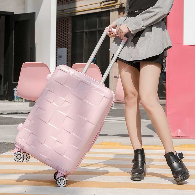 LeTrend Creative Rolling Luggage Spinner 24 inch Women Suitcase Wheels Men 20 inch Cabin Trolley Travel