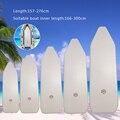 157-276 centimetri di Usura IN PVC Gonfiabile Deck Punto di Goccia Pieghevole Gonfiabile Barca Con Fondo di Ponte Aereo per 2 -6 persona