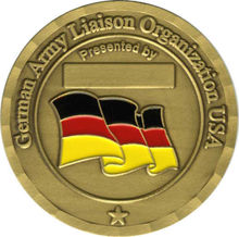 Custom enamel german army challenge coins high quality low price custom round flag military Coin