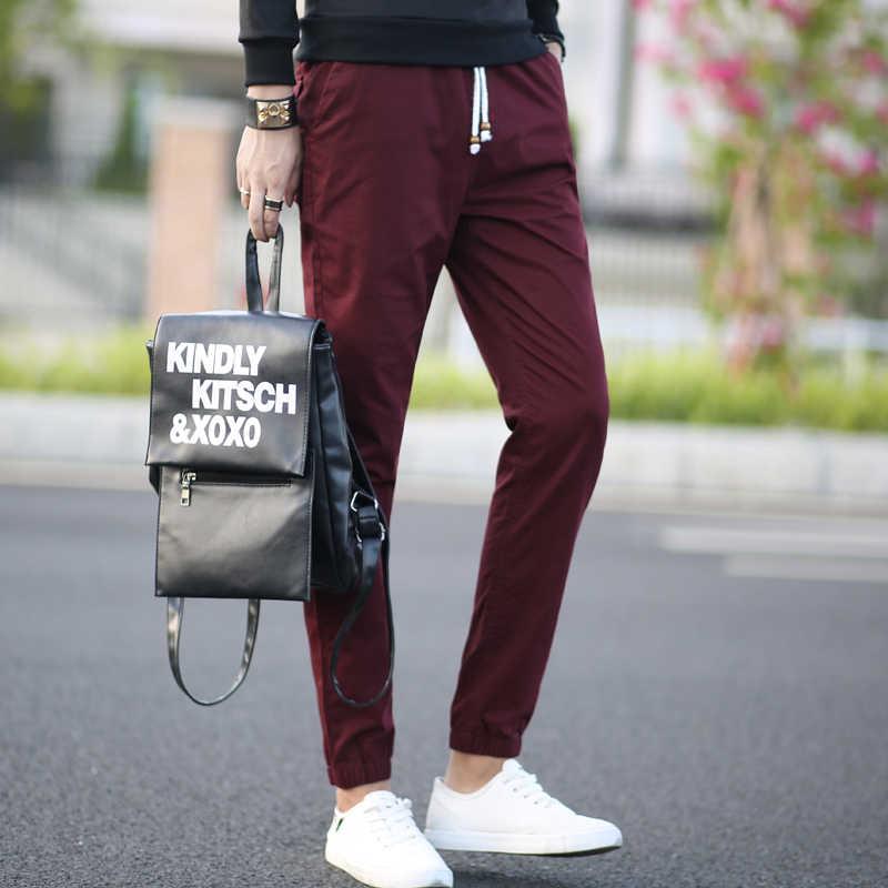 2018 мужские брюки хаки модные мужские брюки повседневные хлопковые мужские брюки поставка прямые брюки черный и хаки