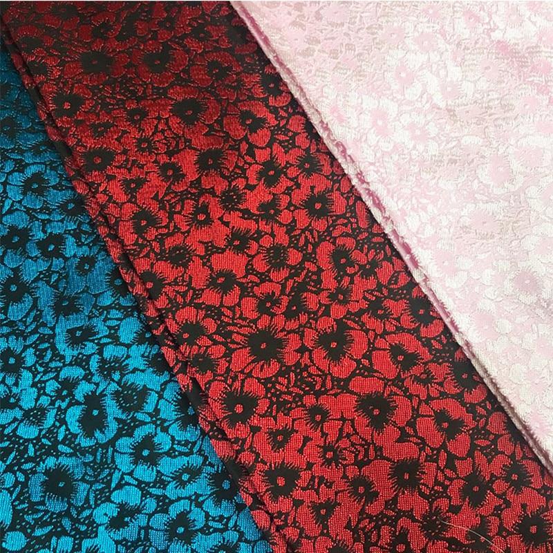 CF534 1meter Pink/Red/Blue Florals Jacquard Brocade Fabric Chinese Wedding Cheongsam Fabric Cosplay Cushion DIY Sewing Cloth