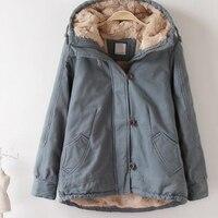 Fashion Women S Solid Buttons Faux Fur Hooded Medium Long Coat Parkas Outwear Soft Fur Lined
